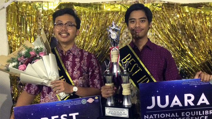 FEB UGM Team Won the 1st and the Best Essay in Equilibrium Science